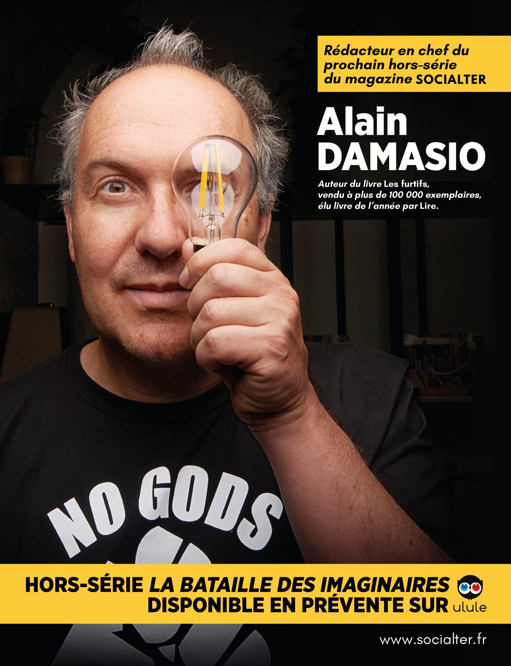 Alain Damasio, rédacteur en chef du prochain hors-série Socialter