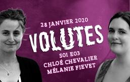 Volutes, le podcast : Mélanie Fievet et Chloé Chevalier invitEnt Caroline Izambert