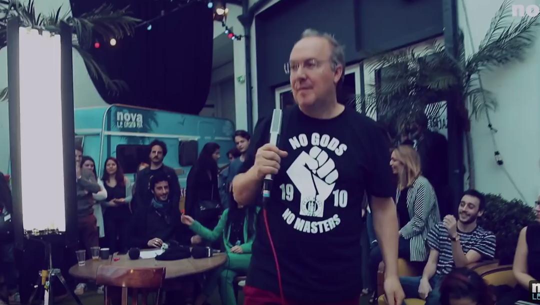 Rone feat Alain Damasio : Bora Vocal en live